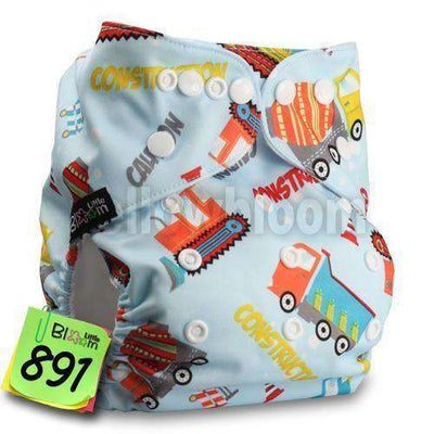 Baby Washable Reusable Real Cloth Pocket Nappy 891 / Onesize No Insert