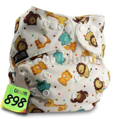 Baby Washable Reusable Real Cloth Pocket Nappy 898 / Onesize No Insert