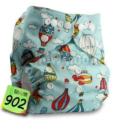 Baby Washable Reusable Real Cloth Pocket Nappy 902 / Onesize No Insert