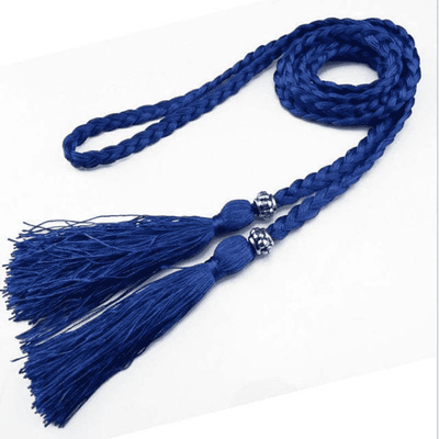 Bow Tie Rope Dress Knot Decorated Rope Blue Belts