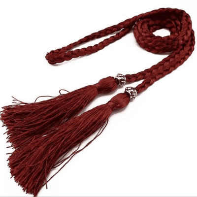 Bow Tie Rope Dress Knot Decorated Rope Winered Belts
