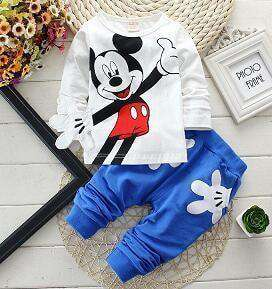 Boys Clothes Suits Cartoon Donald Duck Hoodie Jacket Baby Sport Blue / 2T