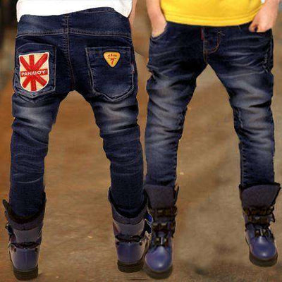 Boys Jeans Solid Thin Denim Causal Long Trousers 3001 Thin Style / 4T
