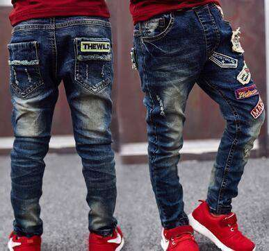Boys Jeans Solid Thin Denim Causal Long Trousers 5002 Thin Style / 4T