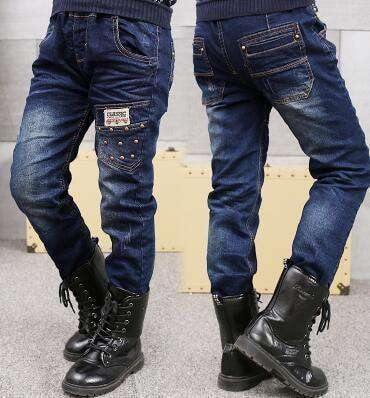 Boys Jeans Solid Thin Denim Causal Long Trousers 5011 Thin Style / 4T