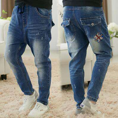 Boys Jeans Solid Thin Denim Causal Long Trousers 609 Thin Style / 4T