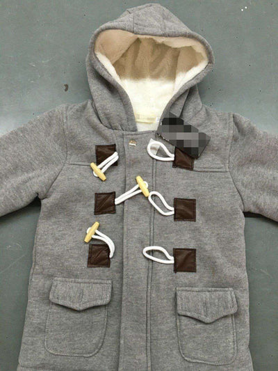 Boys Warm Outerwear Thicken Hooded