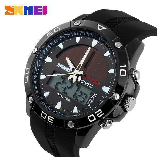 Brand Solar Energy Mens Quartz Watch Men Sports Watches