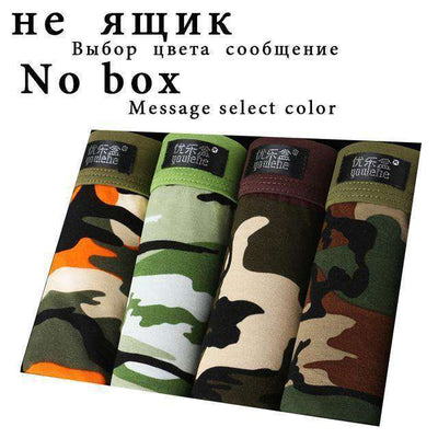Breathable Comfortable Letter Underwear No Box / L Boxers