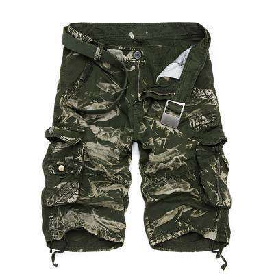 Camouflage Cargo Shorts 6603 Green Camo / 29 M.shorts