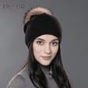 Casual Cap With Real Raccoon Fur 01D / China Hats