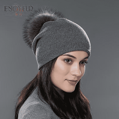 Casual Cap With Real Raccoon Fur 09D / China Hats