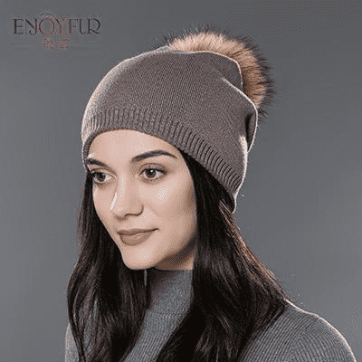 Casual Cap With Real Raccoon Fur 04D / China Hats
