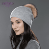 Casual Cap With Real Raccoon Fur 08D / China Hats