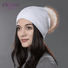 Casual Cap With Real Raccoon Fur 10E / Russian Federation Hats