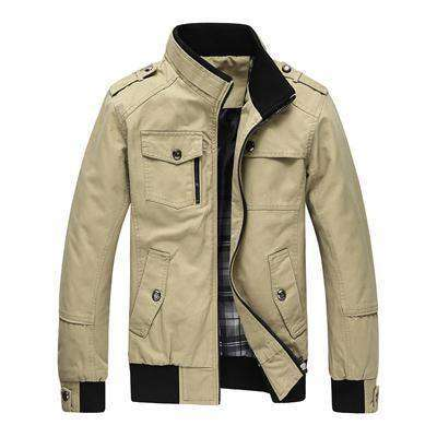 Casual Outerwear Khaki Jacket Green / M Jackets