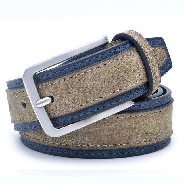 Casual Patchwork Men Belts Greydarkgrey / 100Cm 32To35 Inch Belts