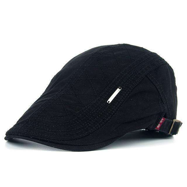 Casual Peaked Grid Embroidery Berets Coffee Berets