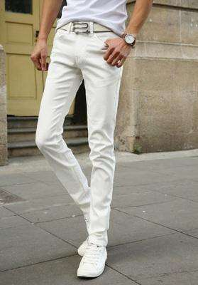 Casual Stretch Skinny Jeans White / 28 M.jeans