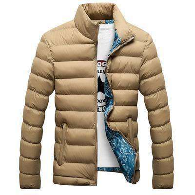 Casual Thick Parka Men Outwear Beige / M Jackets