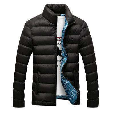 Casual Thick Parka Men Outwear Black / M Jackets