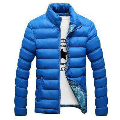 Casual Thick Parka Men Outwear Color Blue / M Jackets