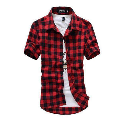 Chemise Homme Red And Black Plaid Shirt Red Black / M Shirts