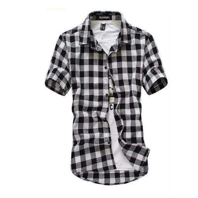 Chemise Homme Red And Black Plaid Shirt Black / M Shirts