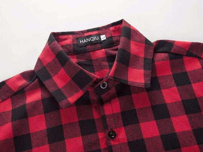 Chemise Homme Red And Black Plaid Shirt Shirts