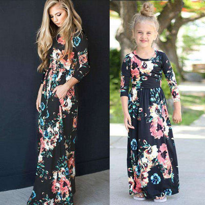 c6859b0518 chifuna Mother Daughter Bohemian Dress Family - Treasure shop
