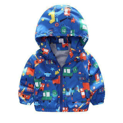 Children Jackets Casual Hooded Kids Outerwear Blue Plane / 2T