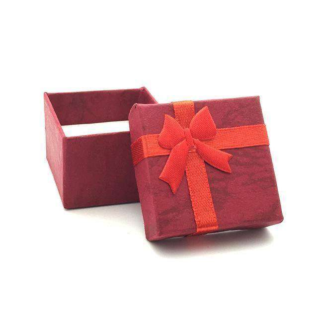 Colorful 1Pc New 4*4Cm Jewery Organizer Box Rings