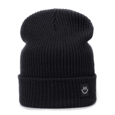 Cotton Cartoon Knitted Beanies Black Hats