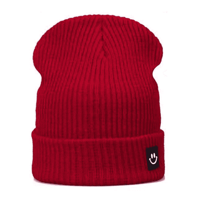 Cotton Cartoon Knitted Beanies Brightred Hats
