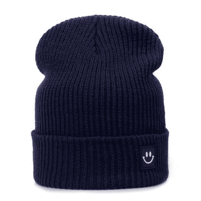 Cotton Cartoon Knitted Beanies Navy Hats