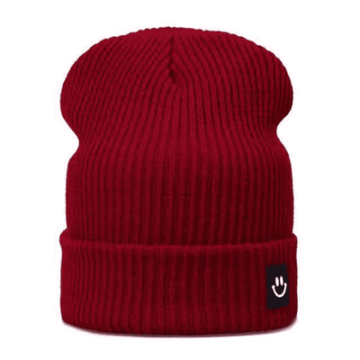 Cotton Cartoon Knitted Beanies Winered Hats