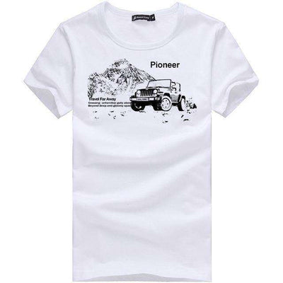 Cotton Comfortable Males T-Shirt White 405033A / M M.t-Shirts