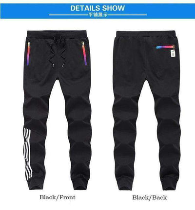 Cotton Sportswear Casual Hip Hop High Street Pants Black Mt201 / S Sweatpants