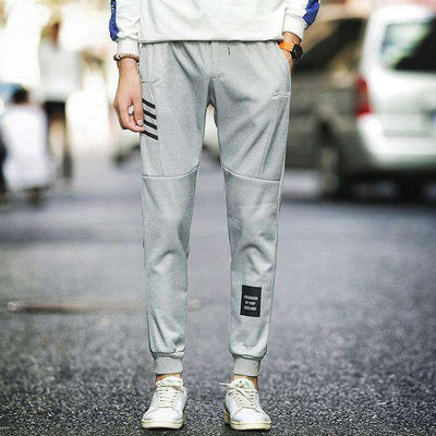 Cotton Sportswear Casual Hip Hop High Street Pants K51 Gray / S Sweatpants
