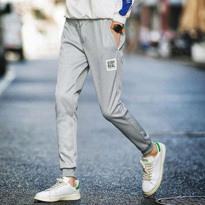 Cotton Sportswear Casual Hip Hop High Street Pants K52 Gray / S Sweatpants