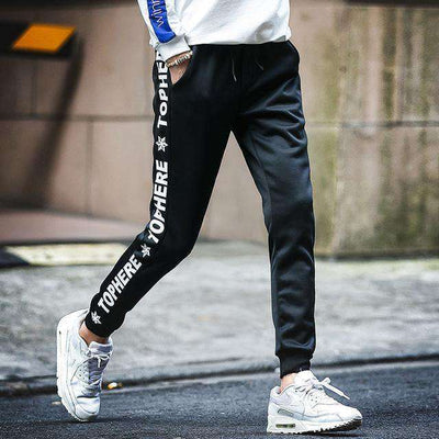 Cotton Sportswear Casual Hip Hop High Street Pants K53 Black / S Sweatpants
