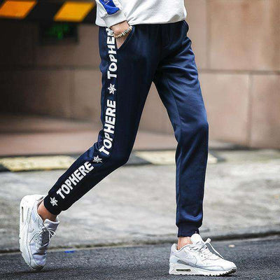 Cotton Sportswear Casual Hip Hop High Street Pants K53 Dark Blue / S Sweatpants