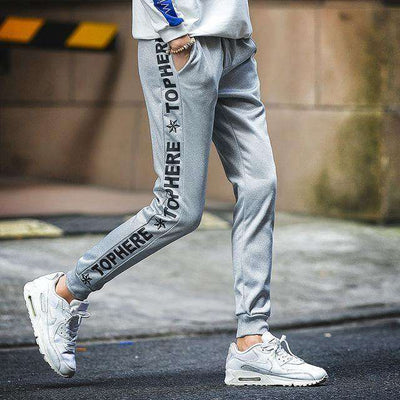 Cotton Sportswear Casual Hip Hop High Street Pants K53 Gray / S Sweatpants