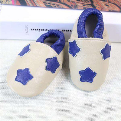 Cow Leather Soft Soled Toddlers Infant Shoes First Walkers C1 / 4.5