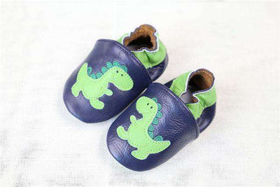 Cow Leather Soft Soled Toddlers Infant Shoes First Walkers Dinosaur / 4.5