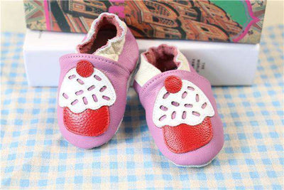 Cow Leather Soft Soled Toddlers Infant Shoes First Walkers Pink / 4.5