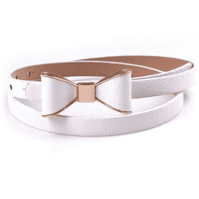 Cute Sweet Candy Colors Bowknot Pu Leather Belt Belts