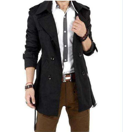 Double Breasted Men Casual Coat M.trench