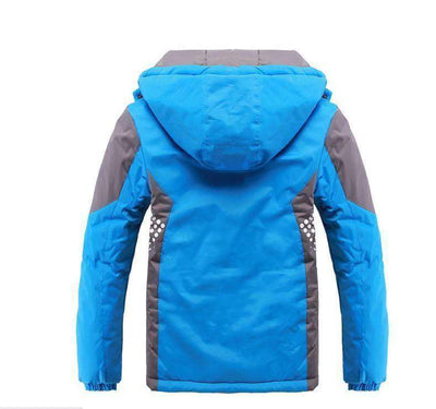 Double-Deck Waterproof Windproof Thicken Boys Girls Jackets