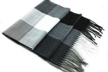 Double Faced Wool Plaid Scarf Accessories